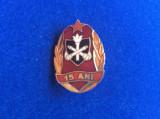 Insignă Pompieri - Insignă România - 15 ani - Pompieri -MI (variantă mică)