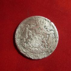 Moneda 1 Leu 1874 Carol I argint ,cal. mediocra , Romania