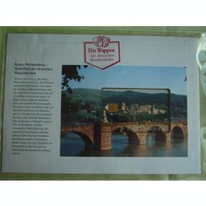 Cartela Telefonica + FDC Germania Baden-Wurttenberg - Exponat Numerotat