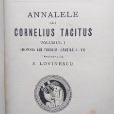 ANALELE LUI CORNELIUS TACITUS ,VOL 1- TRADUCERE DE E. LOVINESCU,1926