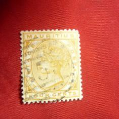 Timbru 4C 1879 Mauritius colonie britanica - R.Victoria , stampilat