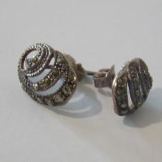 Cercei argint cu marcasite -595