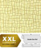 Tapet galben model grafic si finisaj metalic evidentiat 972-31