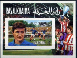 Ras Al Khaima 1972 Sport Soccer Football imperf. sheet MNH S.691