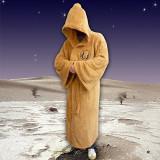 Halat De Baie Star Wars Jedi Fleece Robe Tan Logo Adult Large