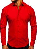 Cumpara ieftin Cămașă elegantă pentru bărbat cu mâneca lungă roșie Bolf 1703