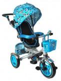 Tricicleta multifuncionala pliabila albastra