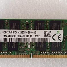 Memorie Laptop SODIMM SKhynix 8GB DDR4 PC4-2133P 2133Mhz, 8 GB, Peste 2000 mhz, Hynix
