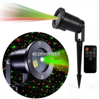 Laser Proiector tip Star Shower Rosu Verde Senzor, Telecomanda LZ9606 foto