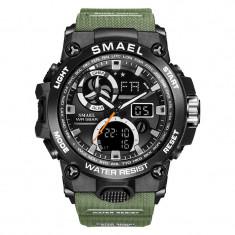 Ceas Sport Subacvactic Fashion Outdoor SMAEL 8011 Dual Time LED Calendar