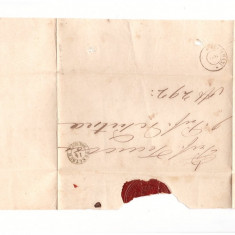 Romania 1863 - Plic prefilatelic circulat Tecuci-Focsani
