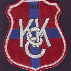 1872 Emblema brodata KEC Clubul Universitar Cluj, predecesorul echipei U Cluj