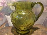 Vintage / Design / Decor - Cana / Carafa din sticla veche model deosebit !