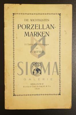 Die wichtigsten Porzellan - Marken, 1920 - O. Ritter foto