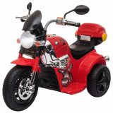 HOMCOM Motocicleta Electrica pentru copii 3-6 ani 6V cu baterie din PP otel rosie