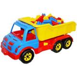 Jucarie Roben Toys, Camion 60cm din plastic cu cuburi