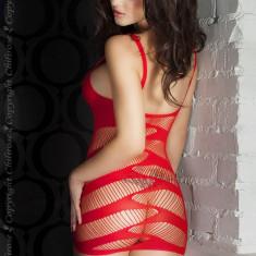 Rochie mini Chilirose 3424 S/M Red Minidress