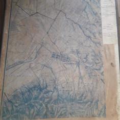 Hartă austro-ungară imprejurimi Timișoara reambulată 1937