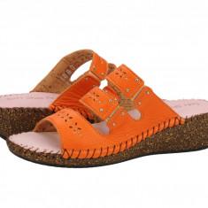 Sandale piele dama Relaxshoe Nyma arancia 42622ARANCIA
