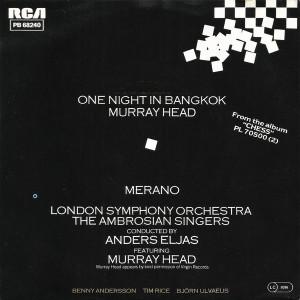 Murray Head - One Night In Bangkok (1984, RCA) Disc vinil single 7