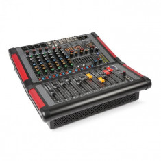 Power Dynamics PDM-S804A, mixer muzical cu 8 canale, amplificator integrat, (2 x 350 W RMS)