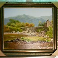 Tablou pictat manual pe panza in ulei Peisaj Natura A-174, Realism