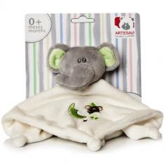 Plus Bebe Elefantel 26 cm cu Paturica si Zornaitoare Vernil