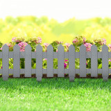Cumpara ieftin Bordura Gardulet Decorativ Plastic pentru Gazon sau Flori, Dimensiuni 40x30cm, Gri