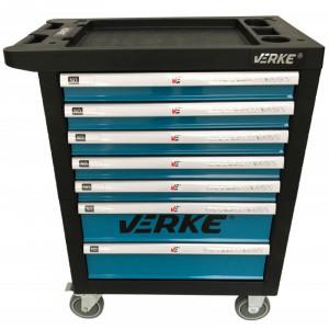 Cărucior depozitare unelte cu 7 sertare, pentru atelier VERKE V33100