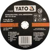 Disc debitat otel inoxidabil 230 x 2.0 x 22 mm Yato YT-6107