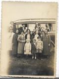 A1689 Barbati femei copii autobuz Ghermanesti Iflov 1922