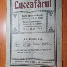 luceafarul nr. 20/1912-director octavian goga,gheorghe baritiu,ion agarbiceanu