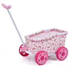 Carucior multifunctional pentru jucarii Hello Kitty