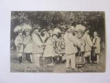 Rară! Salutări din Bucovina-Ruteni/dansuri populare,carte poștală necirc.1910, Necirculata, Printata