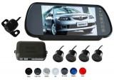 "Senzori parcare cu camera video si display lcd de 7"" in oglinda s608 Tuning-Shop"