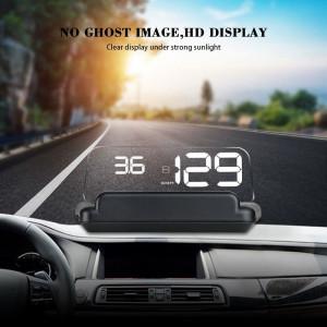 Proiector informatii de bord pe parbriz HeadUp Display auto RoGroup display 5 interfata OBDII