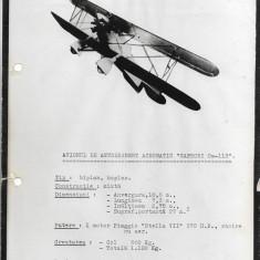 Fotografie avion Caproni Ca 113 al doilea razboi mondial