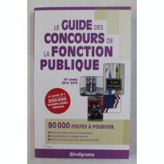 LE GUIDE DES CONCOURS DE LA FONCTION PUBLIQUE - 2018 - 2019