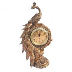 Figurina Paun cu ceas 20x36 cm