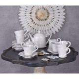 Set cafea din portelan alb pentru 6 persoane CW501, Seturi