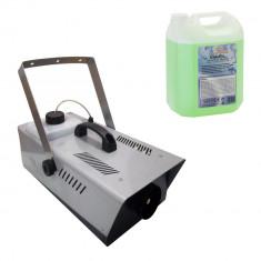 Masina de fum pentru petreceri telecomanda pedala inclusa 1500 KV lichid 2 L cadou