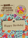 Felicitare Eco - Seeds of Love - Happy Birthday | Natural Green Seeds