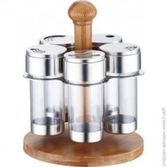 Set recipiente condimente 5buc.+suport Handy KitchenServ