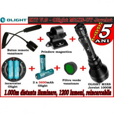 Set lanterna vanatoare Olight V9 M3XS-UT reincarcabil