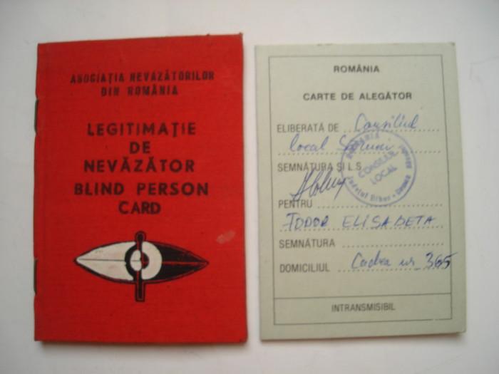 Lot documente: legitimatie de nevazator si carte de alegator