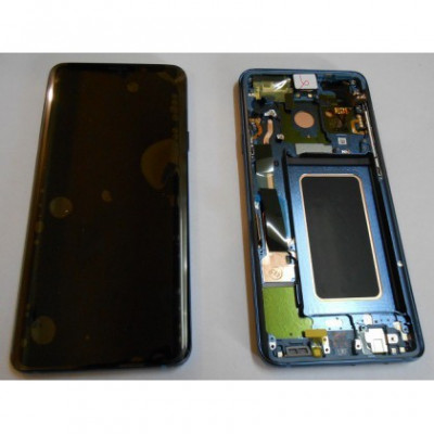 Display cu Touchscreen cu Rama Blue Samsung G965 Galaxy S9 Plus foto