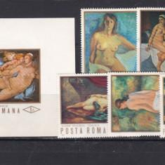 Romania  reproduceri   nuduri    L.P.  768  769, Nestampilat