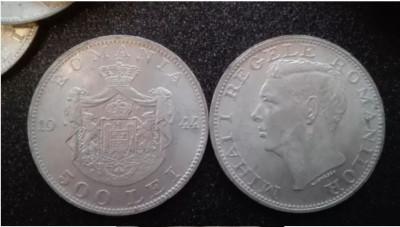 Monede argint 500 lei Regele Mihai 1944-40 buc. 100lei/buc. foto