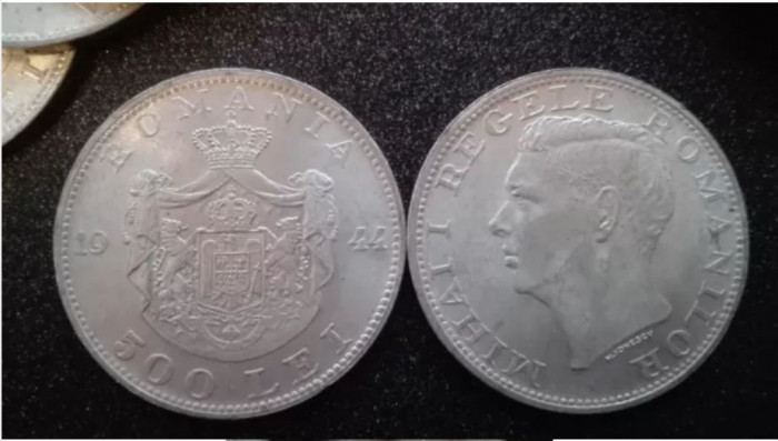 Monede argint 500 lei Regele Mihai 1944-40 buc. 100lei/buc.