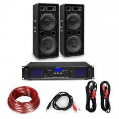 "Electronic-Star Amplificator HiFi și set de boxe, amplificator 2 x 500 W , 2 x boxe 12 "", 500 W RMS"